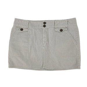American Eagle Gray Corduroy Mini Skirt 8